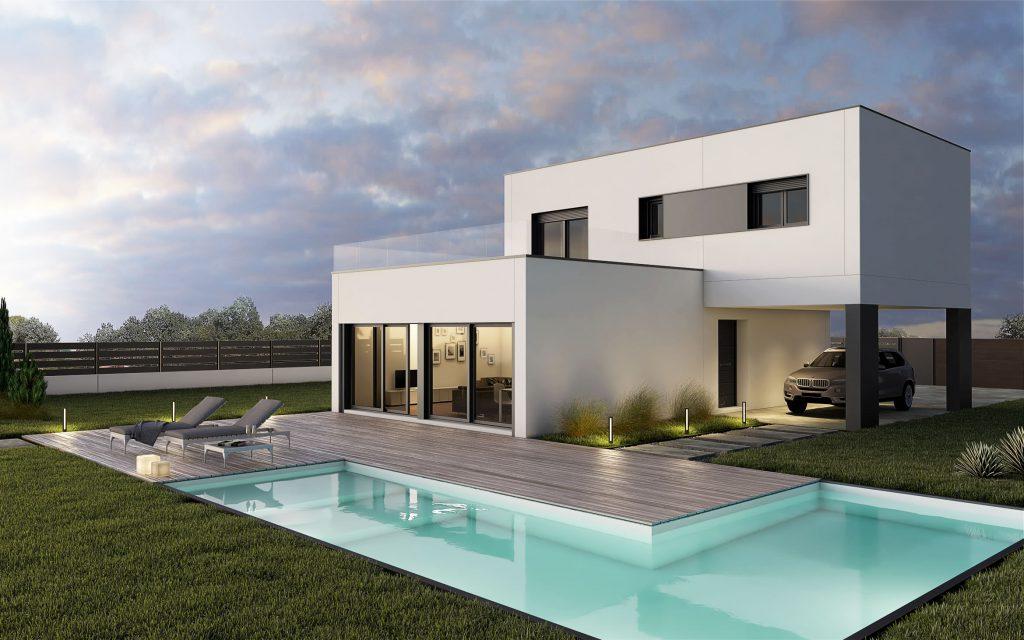 Casa prefabricada m1 - Casas modulares madrid ...