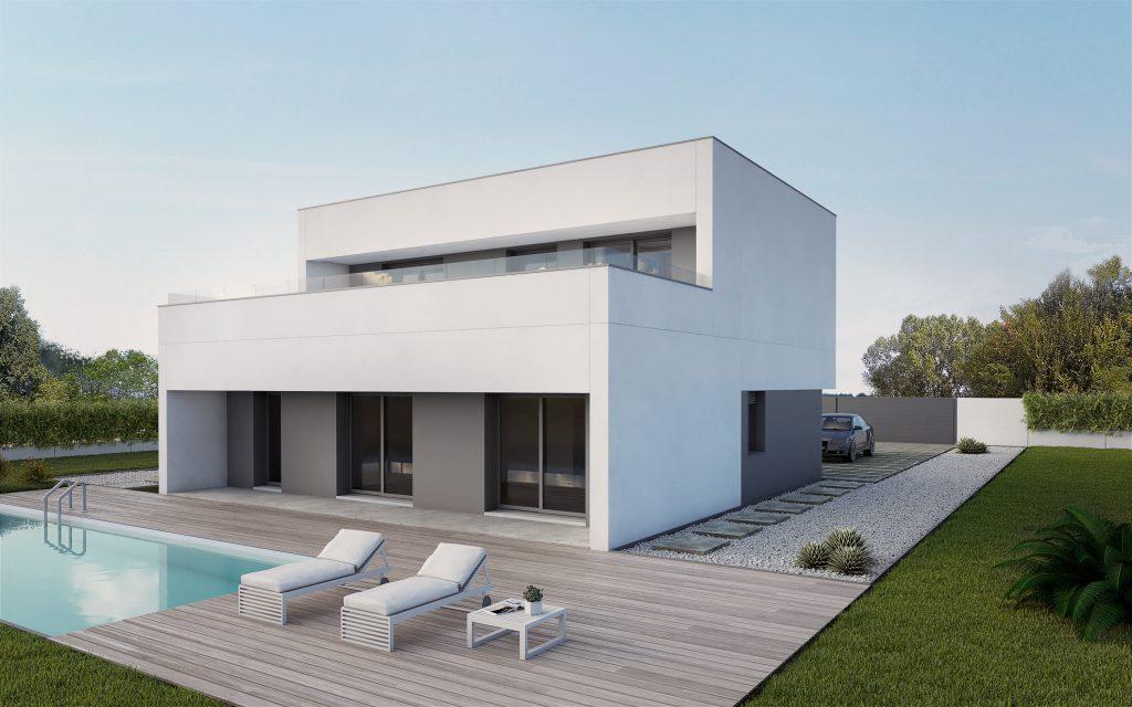 Casas prefabricadas de hormigon viviendas prefabricadas - Precio construir chalet ...