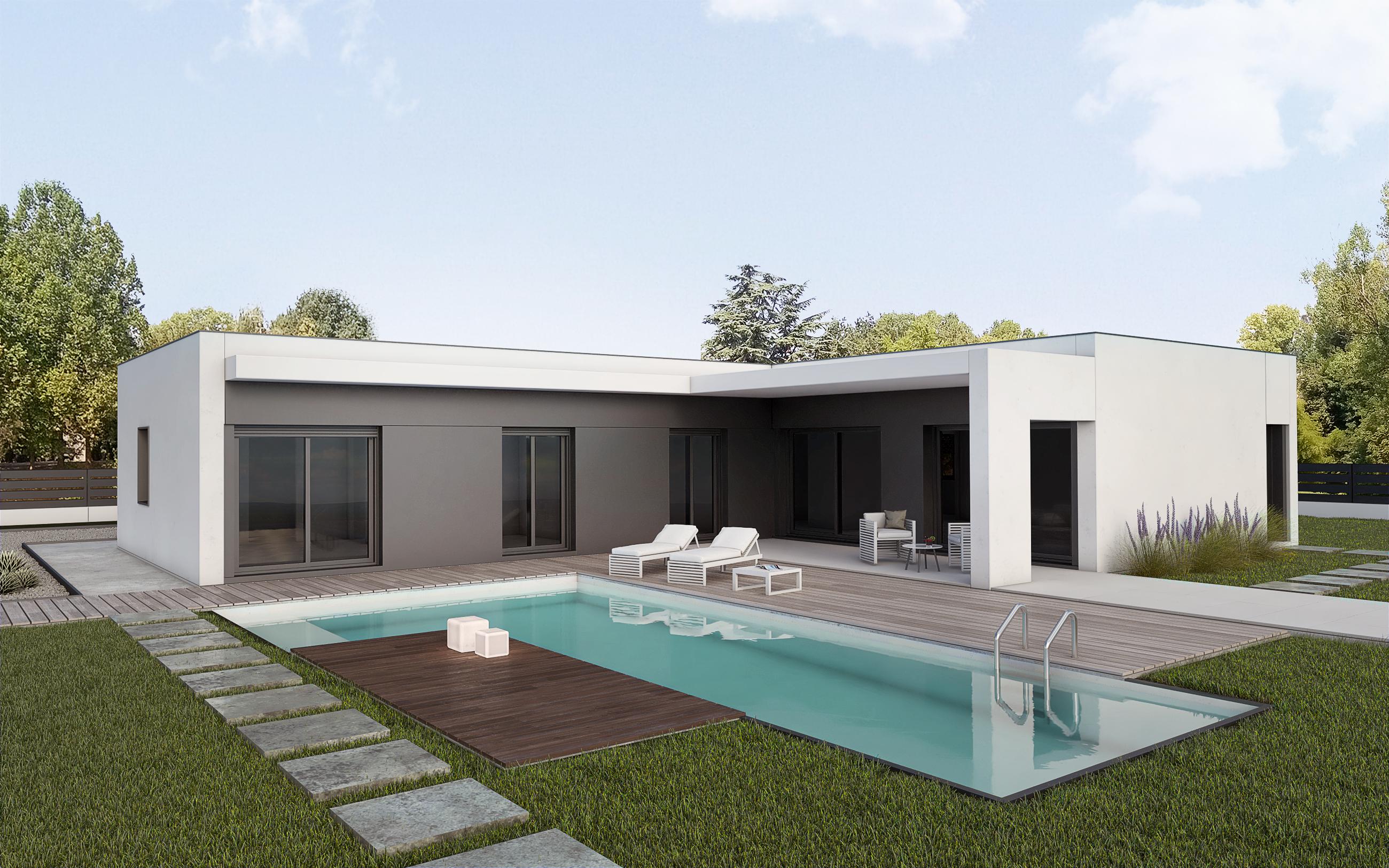 Hormipresa modelos de casas prefabricadas de hormig n for Modelos de casas de una planta modernas